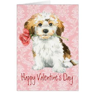 Valentine Rose Havanese Card at Zazzle