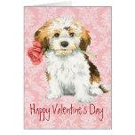 Valentine Rose Havanese Greeting Card