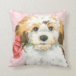 Valentine Rose Havanese Throw Pillow