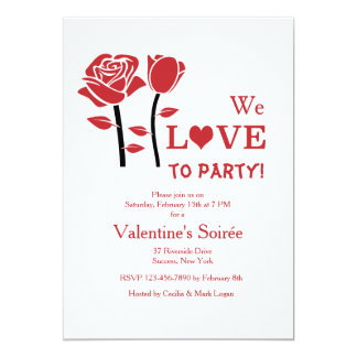 Valentine Rose Invitation