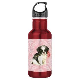 Valentine Rose Japanese Chin Water Bottle