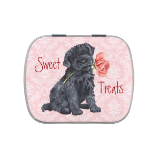Valentine Rose Kerry Blue Terrier Jelly Belly Candy Tins
