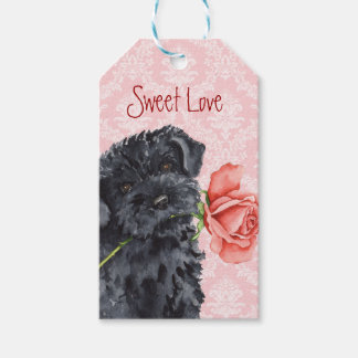 Valentine Rose Kerry Blue Terrier Pack Of Gift Tags