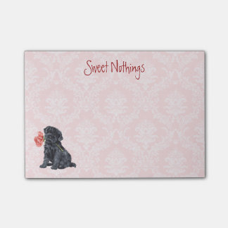 Valentine Rose Kerry Blue Terrier Post-it® Notes