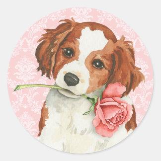 Valentine Rose Kooiker Classic Round Sticker