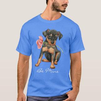 Valentine Rose Min Pin T-Shirt