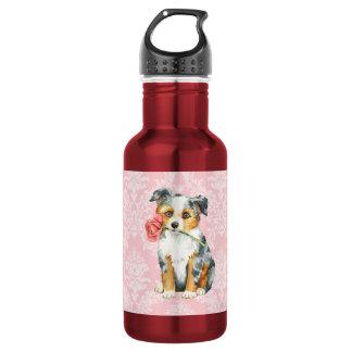 Valentine Rose Mini American Shepherd Stainless Steel Water Bottle
