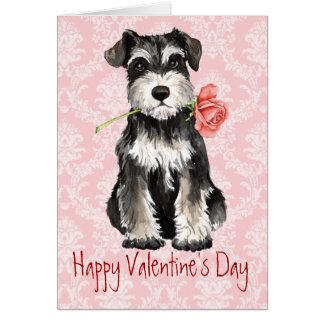 Valentine Rose Miniature Schnauzer Card