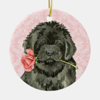 Valentine Rose Newfoundland Ceramic Ornament
