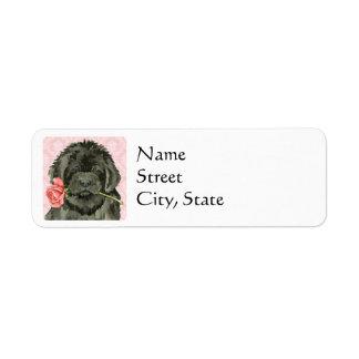 Valentine Rose Newfoundland Label