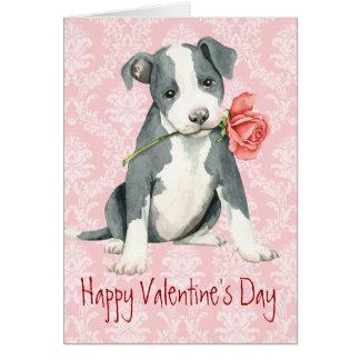 Valentine Rose Pit Bull Card