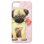 Valentine Rose Pug iPhone 5 Cases