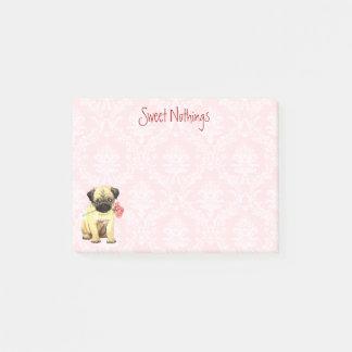 Valentine Rose Pug Post-it Notes