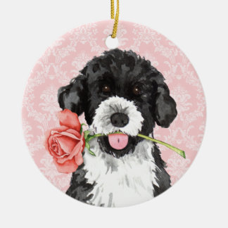 Valentine Rose PWD Ceramic Ornament