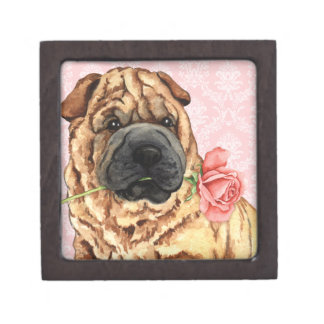 Valentine Rose Shar-Pei Gift Box