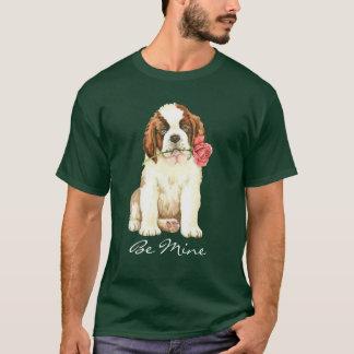 Valentine Rose St. Bernard T-Shirt