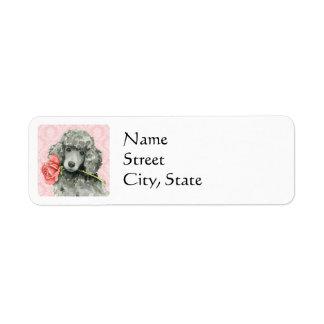 Valentine Rose Standard Poodle Label