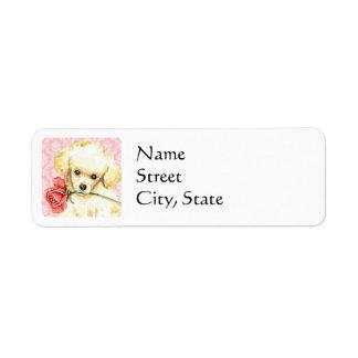 Valentine Rose Toy Poodle Label