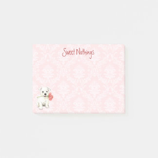 Valentine Rose Westie Post-it Notes