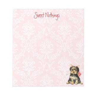 Valentine Rose Yorkie Notepad