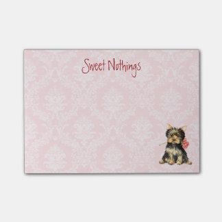 Valentine Rose Yorkie Post-it® Notes
