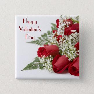 Valentine Roses Button