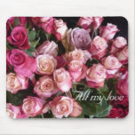 Valentine roses mouse pad