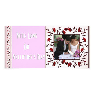 Valentine roses photo card
