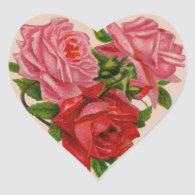 Valentine Roses Sticker