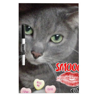 Valentine Russian Blue Cat Dry-Erase Boards