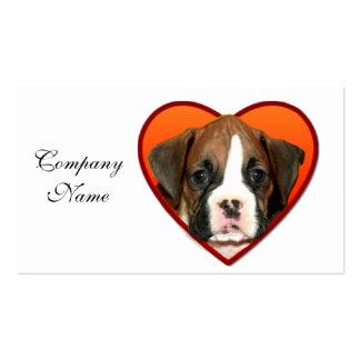 Valentine s Boxer puppy Business Card
