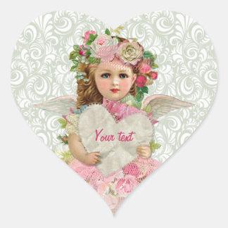 Valentine s Day Angel Heart Stickers