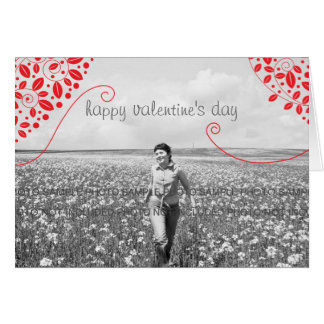 Valentine s Day Cards with Photo Leaves Swirls