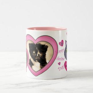 Valentine 's Day Cat Love Custom Photo & Text Mug