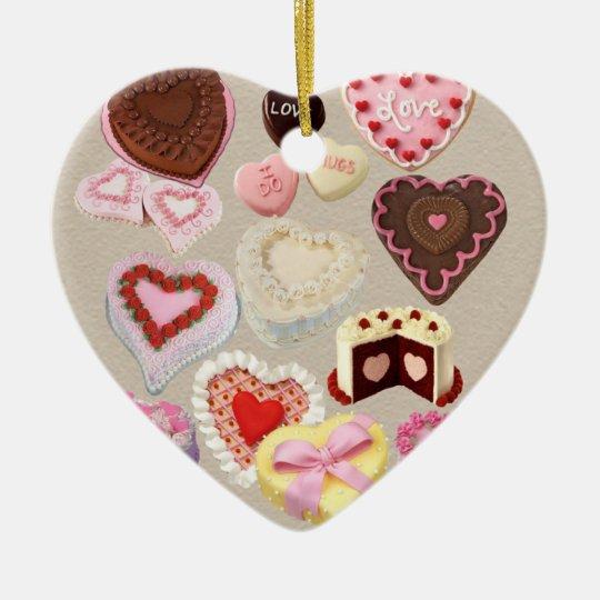 Valentine's Day Ceramic Ornament