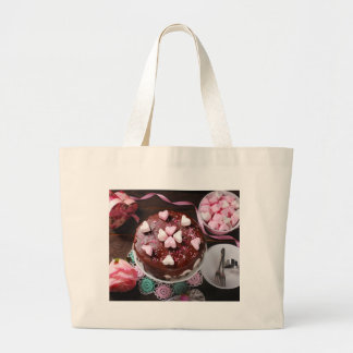 Valentine' S Day: Coffee & Chocolate Eight Large Tote Bag