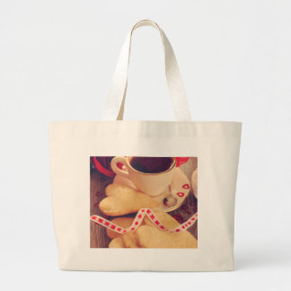 Valentine' S Day: Coffee & Chocolate Five Large Tote Bag