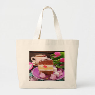 Valentine' S Day: Coffee & Chocolate Fourteen Large Tote Bag