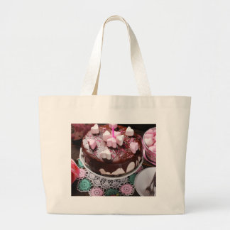 Valentine' S Day: Coffee & Chocolate Furnace Large Tote Bag