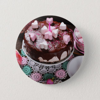 Valentine' S Day: Coffee & Chocolate Furnace Pinback Button