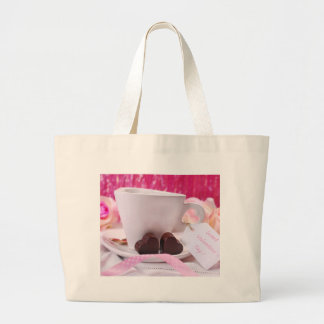 Valentine' S Day: Coffee & Chocolate Nine Large Tote Bag
