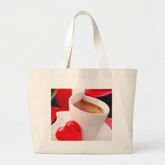 Valentine' S Day Coffee & Chocolate One Large Tote Bag