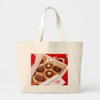 Valentine' S Day: Coffee & Chocolate Six Large Tote Bag