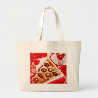 Valentine' S Day: Coffee & Chocolate Sixteen Large Tote Bag