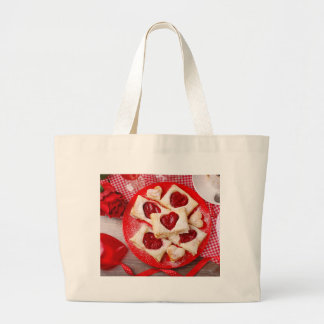 Valentine' S Day: Coffee & Chocolate Ten Large Tote Bag