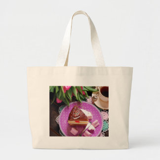 Valentine' S Day: Coffee & Chocolate Three Large Tote Bag