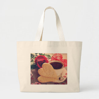 Valentine' S Day: Coffee & Chocolate Twelve Large Tote Bag