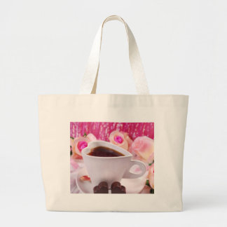 Valentine' S Day: Coffee & Chocolate Two Large Tote Bag