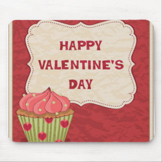 Valentine´s day design with cupcake mouse pad