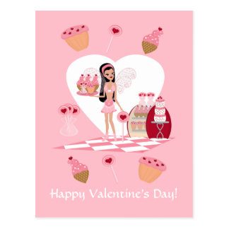 Valentine's Day Faery Sweets Shoppe Postcard